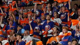 Fans cheer in Game Four of the Second