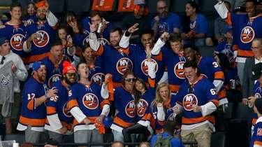 Members of the Jets attend Game 4 of