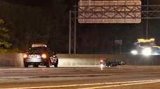 Scene of a fatal motorcycle crash on the