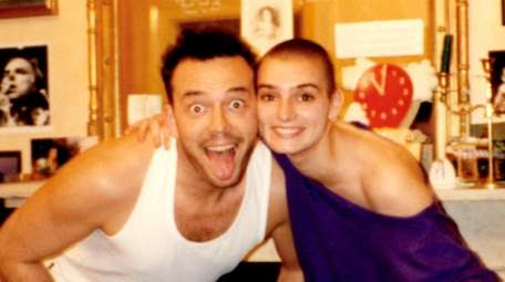 Sinead O'Connor with her first husband, John Reynolds.