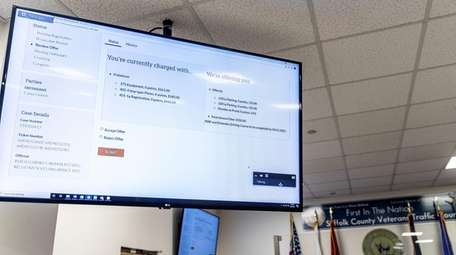 A screen shows how the Suffolk County Traffic