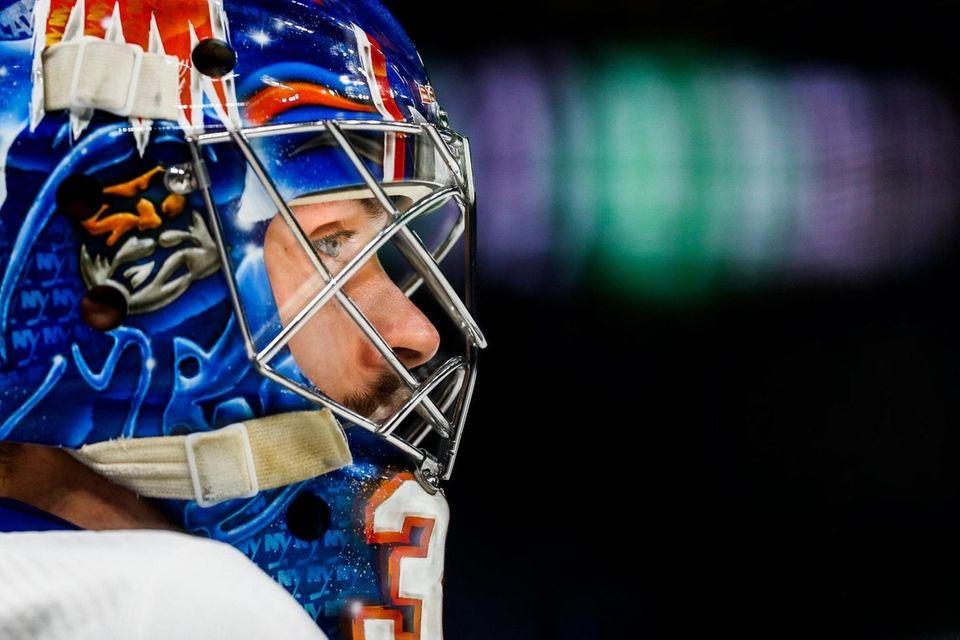 Ilya Sorokin #30 of the New York Islanders