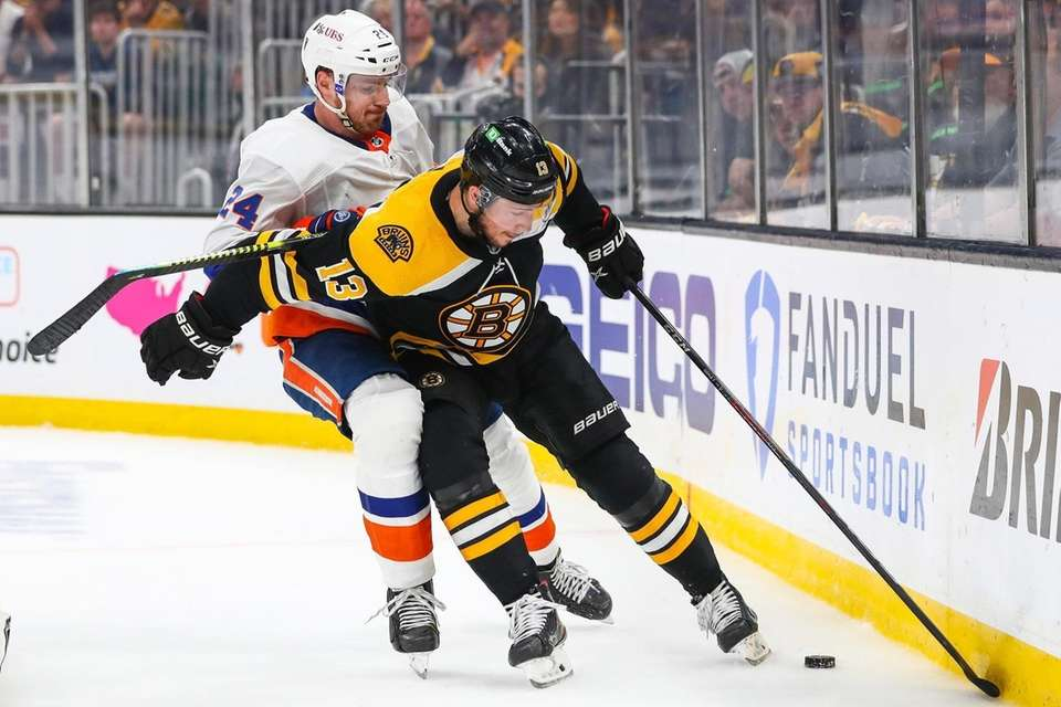 Charlie Coyle #13 of the Boston Bruins and