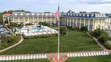 The exterior of the Congress Hall seaside resort