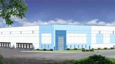 A rendering of developer Hartz Mountain Industries' proposed