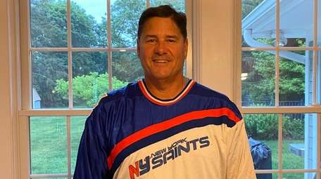 Former New York Saints goalkeeper Sal LoCascio poses