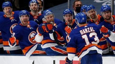 Mathew Barzal  of the New York Islanders