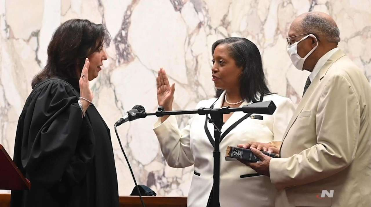 Joyce Smith was sworn in as Nassau's acting