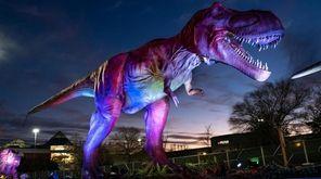 The drive-thru Dino Safari brings 40 animatronic dinosaurs