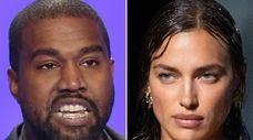 Hip-hop artist Kanye West and model Irina Shayk