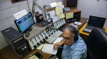 Radio host Tony DeMauro at WRIV station in
