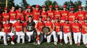 Chaminade proudly displays the CHSAA baseball championship trophy