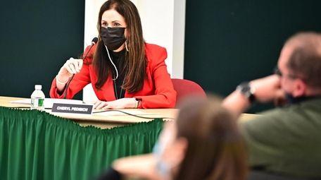 Three Village schools Superintendent Cheryl Pedisich at the