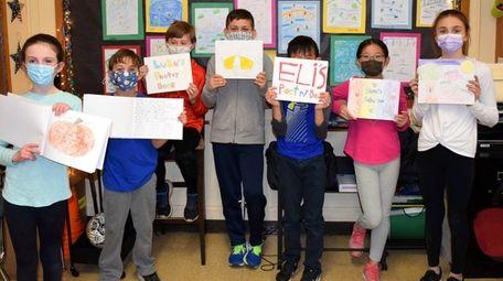 Fifth-graders at Stratford Elementary School in Garden City