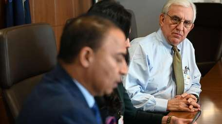 Then-Chairman Robert Detor speaks during a NuHealth board