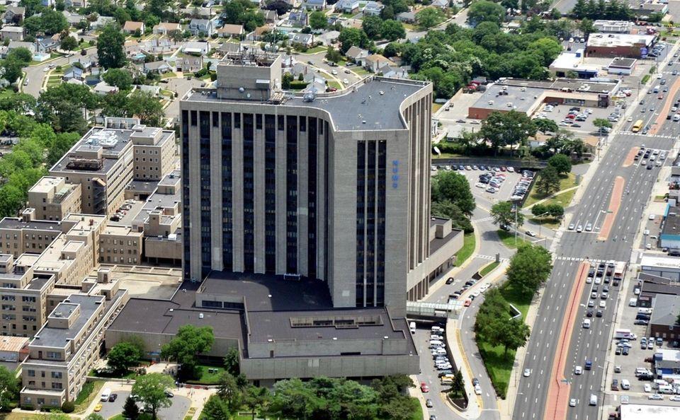 An aerial view of Nassau University Medical Center