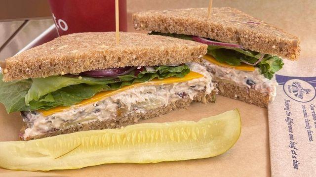 The Big Sky chicken salad sandwich on honey