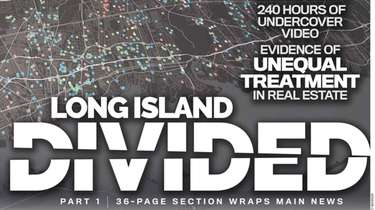 """Newsday front page Long Island Divided """"Evidence of"""