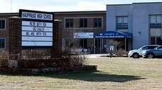 Hauppauge High School on Lincoln Blvd in Hauppauge