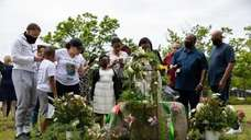 Local officials held a ceremonyinHauppauge on Saturday to