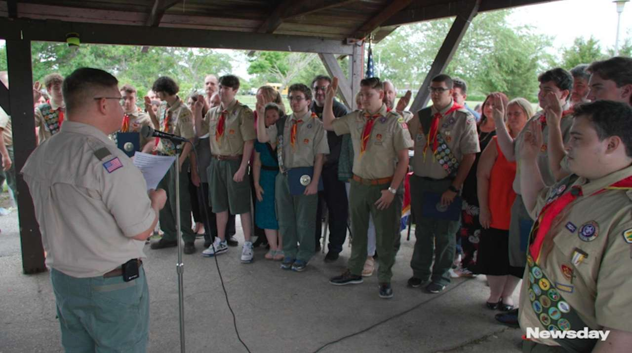 At a ceremony at Wantagh Park on Saturday,