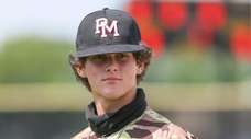 Patchogue-Medford High School baseball pitcher Josh Knoth during