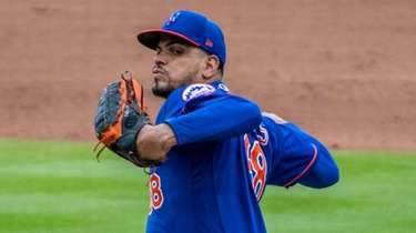 The Mets' Dellin Betances throws in the fourth