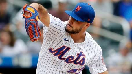 Joey Lucchesi of the Mets pitches against the