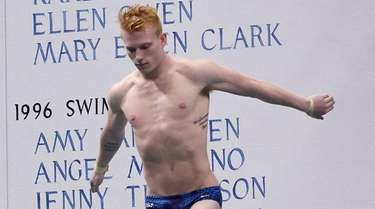 Andrew Capobianco competes in the men's synchronized 3-meter