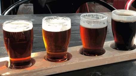 A sampler of four beers at Westhampton Beach