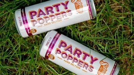 Sixpoint Brewery Party Poppers Hard Seltzer.