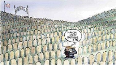 This Matt Davies political cartoon was published Oct.