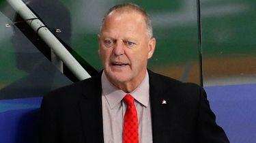 Canada head coach Gerard Gallant reacts during the