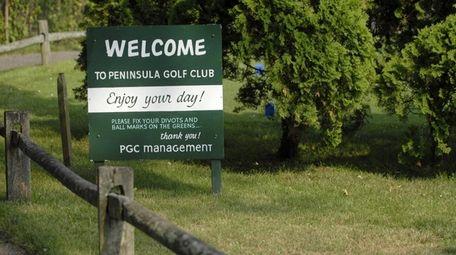 The 50-acre, nine-hole Peninsula Golf Club in East