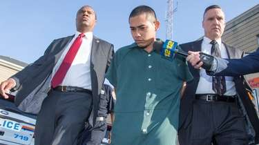 Antonio Cullal leaves Nassau County Police Headquarters in