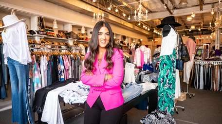 Gabrielle Banschick poses at her clothing store Penelope