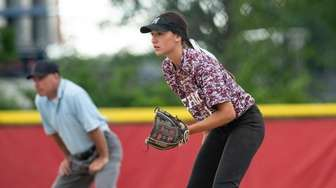 Hailey Guerrero of Mepham stands at the ready