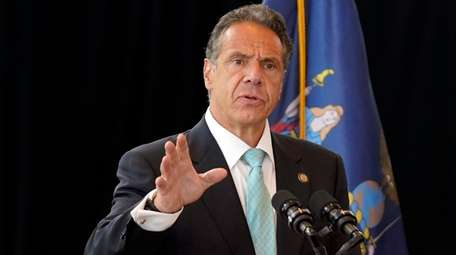 Gov. Andrew M. Cuomo speaks about the lifting