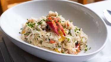 Lobster risotto with basil, chives, parmesan and orange