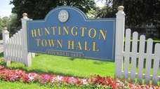 Huntington Town Hall, where the town board meets,