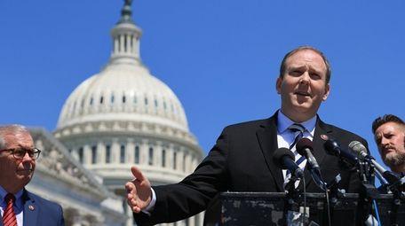Rep. Lee Zeldin outside the U.S. Capitol last