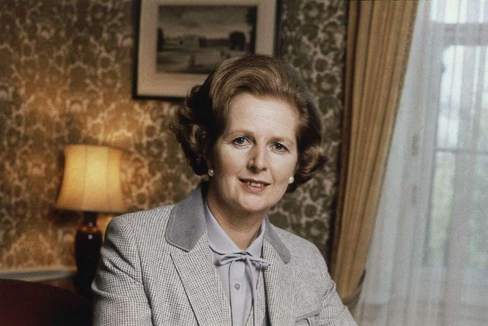British Prime Minister Margaret Thatcher in 1980.