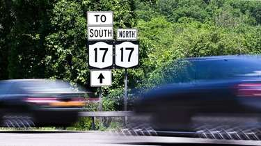 Route 17 signs in Sloatsburg, NY
