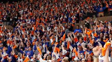 Fans cheer in Game 6 of the second
