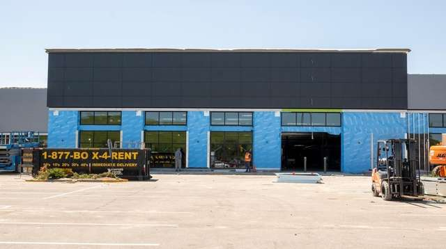 Construction workers are renovating a former Waldbaum's site
