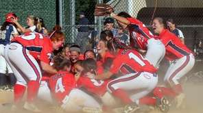Miller Place softball celebrates its first ever county