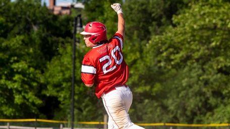 South Side's TJ Maher celebrates hitting a grand