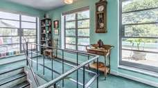 The art deco home resembles houses found in