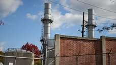 The National Grid power plant on Shore Road