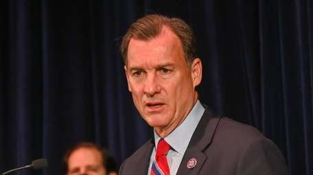 Congressman Thomas Suozzi, speaks during a press conference